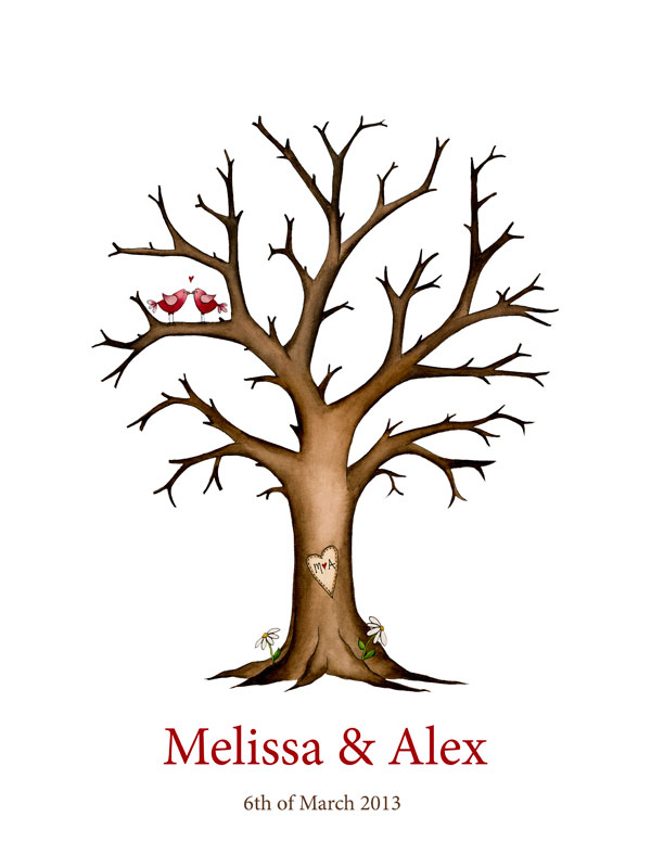 wedding tree guest book free template - wedding tree fingerprint memory tree